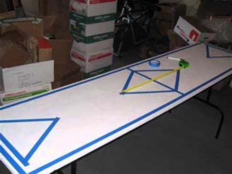 making a beer pong table simple beer pong table design youtube