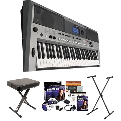Keyboard Yamaha Psr E443 yamaha yamaha psr e443 value kit b h photo