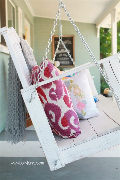 how to hang porch swing tips to hang a porch swing lolly jane