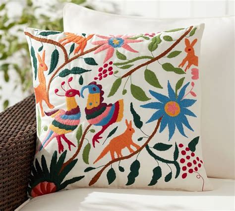 Pottery Barn Outdoor Pillow by Otomi Embroidered Indoor Outdoor Pillow Multi Pottery Barn