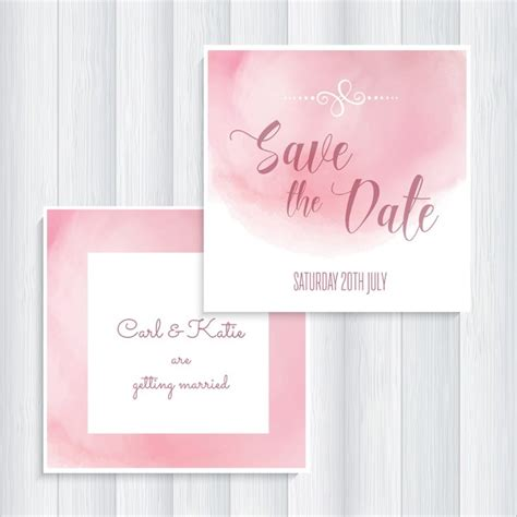 save the date invitation templates free pink save the date invitation vector free