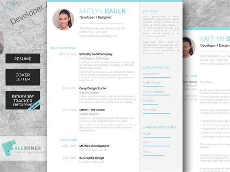 Resume W Picture by Premium W Picture Resume Templates