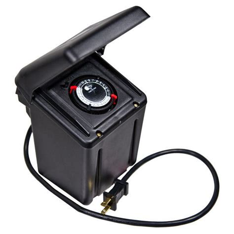 Landscape Lighting Transformer With Timer Intermatic Ml200rt Transformer With Timer 200 Watt