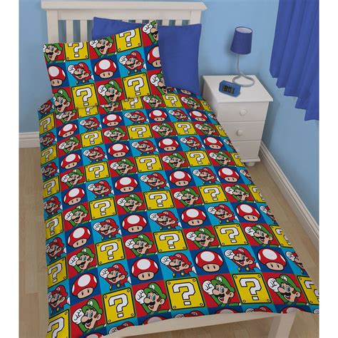 nintendo bedding nintendo super mario luigi jump single duvet cover set