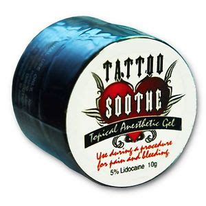 tattoo soothe topical anesthetic review tattoo soothe topical anesthetic gel 10g piercing numbing