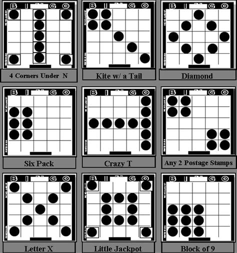 pattern games to play in the classroom bingo patterns st andrews bingo game patterns