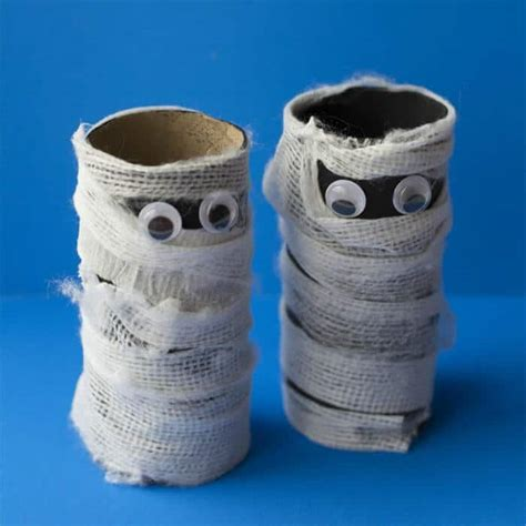 Mummy Toilet Paper Roll Craft - toilet paper roll mummy craft for