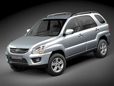 Kia Small Suv Models 3d Model Kia Sportage Suv