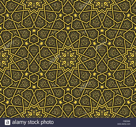 islamic pattern background black islamic ornament golden black background vector