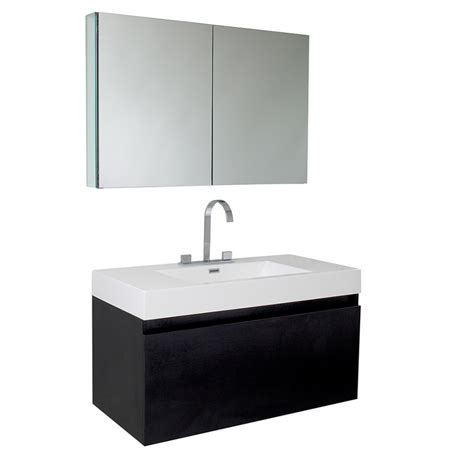 Black Modern Bathroom Vanity 39 Inch Black Modern Bathroom Vanity With Medicine Cabinet Uvfvn8010bw39