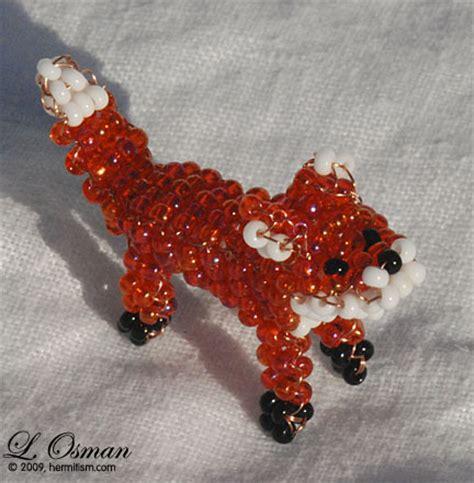 bead fox 1 fox by hermitworm on deviantart