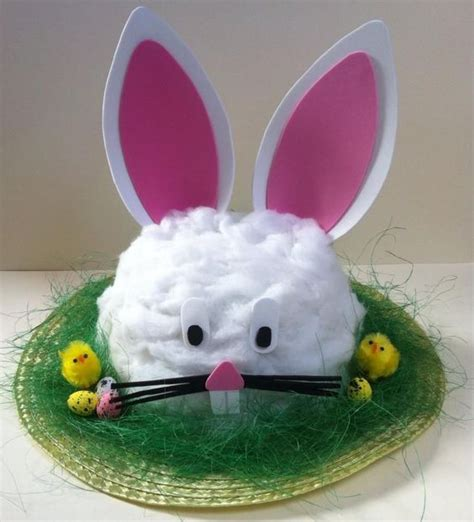 Handmade Easter Hats - handmade bunny rabbit easter bonnet hat handmade hats