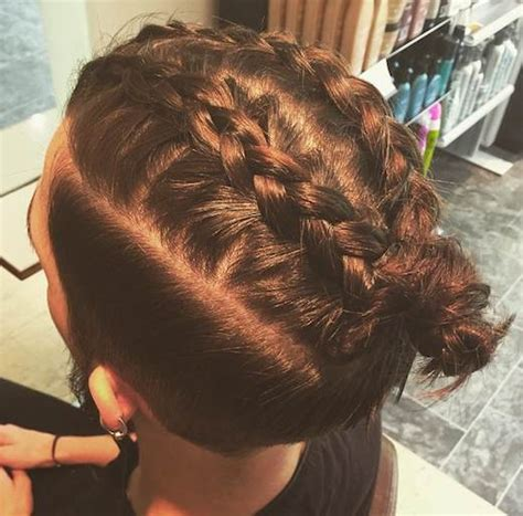 braids that lead into a ponytail man bun top 25 man buns