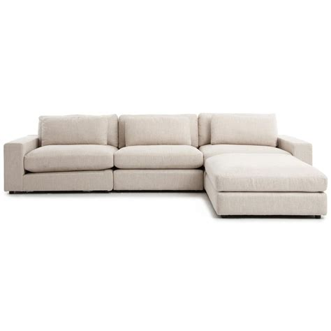 linen sofa sectional cornerstone modern classic beige linen sectional sofa