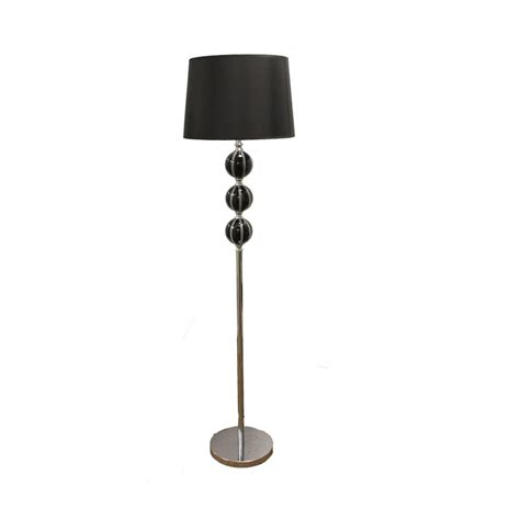 brushed steel stacked ball floor l with white shade 58 inch black stack ceramic floor l free shipping