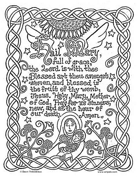 25 Unique Catholic Crafts Ideas On Pinterest Catholic Hail Coloring Page