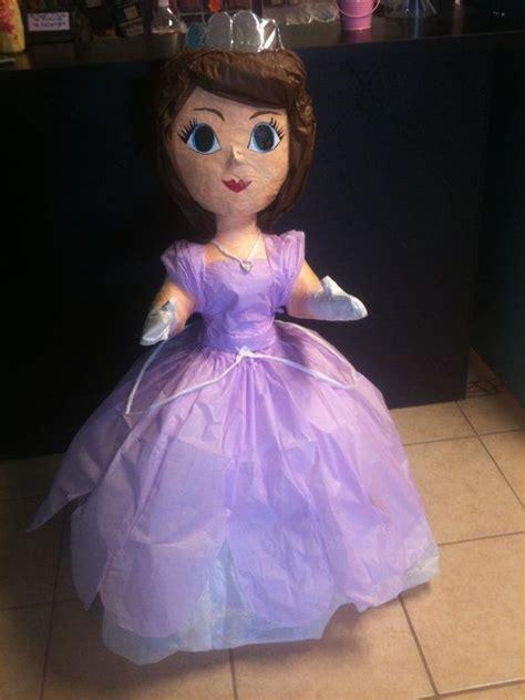 como aser piata de la princesa sofia sofia the first pinata by thefabpartyshop on etsy 45 00