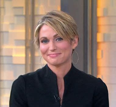 short haired chicago news anchor amy robach weeps as she cuts her hair to take control of