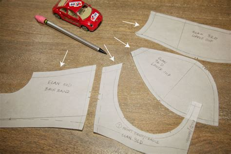 How To Make A Paper Bra - bra sew along pattern tracing cloth habit