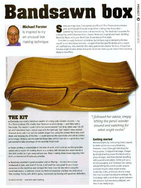 bandsaw box plans woodarchivist