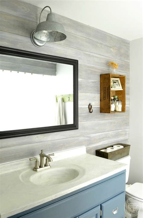 Bathroom Makeover Ideas On A Budget Budget Renovation Install Your Own Planked Wall Refresh