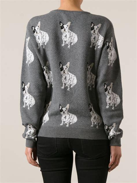 Sweater Buldog Putih 1 lyst bulldog sweater in gray