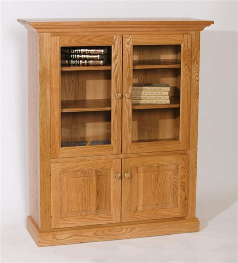Wood Bookcase With Doors Furniture Interior Charming Bookshelf With Glass Doors Corner Bookshelf With Glass Doors
