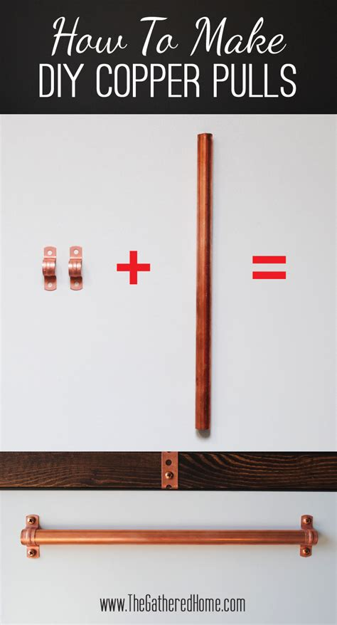 diy copper drawer pulls how to make a diy plank top ikea cabinet desk