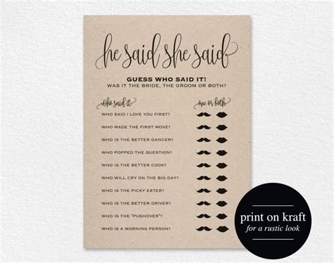 he said she said bridal shower template he said she said bridal shower wedding shower