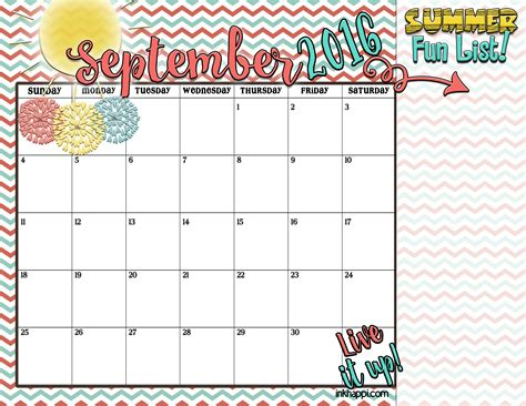 printable calendar ideas summer planning calendars and ideas inkhappi