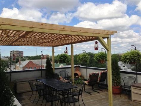 chicago condo rooftop deck pergola view 4 woods home
