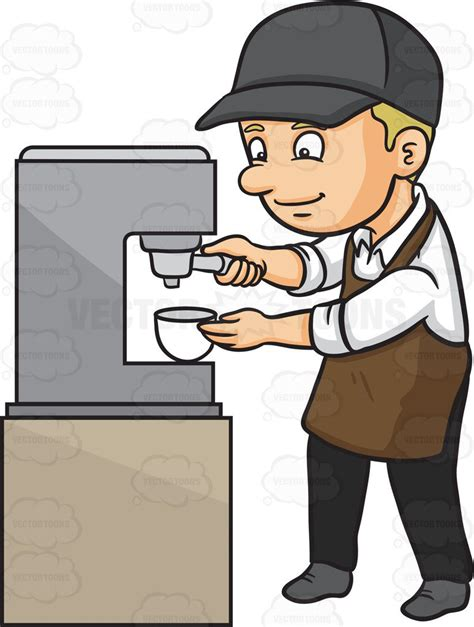 espresso coffee clipart a barista espresso clipart by vector