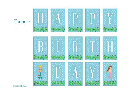 printable mermaid banner free mermaid birthday party printables from printabelle