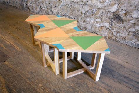 hand painted geometric furniture by volk design milk
