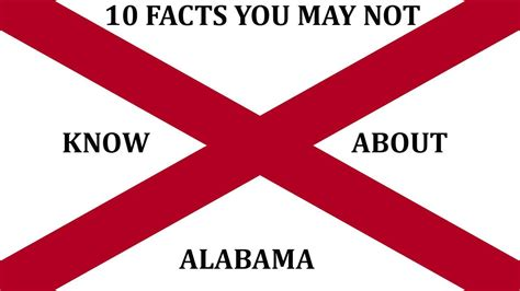10 things you may not know about adding color to your alabama 10 facts you may not know youtube