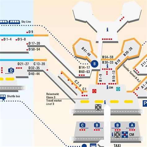 frankfurt airport map frankfurt airport terminal maps