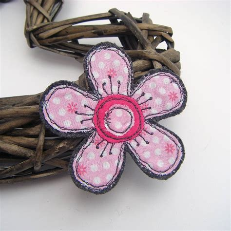 Handmade Fabric Brooches - handmade fabric flower brooch by honeypips