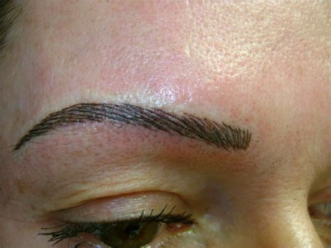 tattoo eyebrow eyebrow before and after