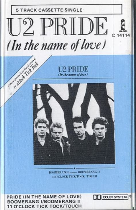 Pride In The Name Of by U2 Pride New Zealand Cassette Single 181782