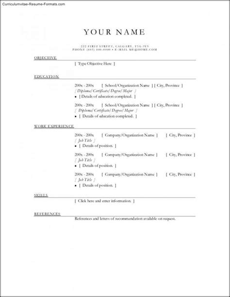 Free Printable Resume by Free Resume Templates Printable Free Sles