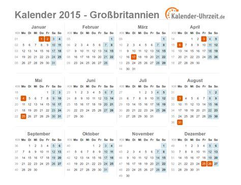 Bersicht Kalender 2015 Feiertage 2015 Gro 223 Britannien Kalender 220 Bersicht