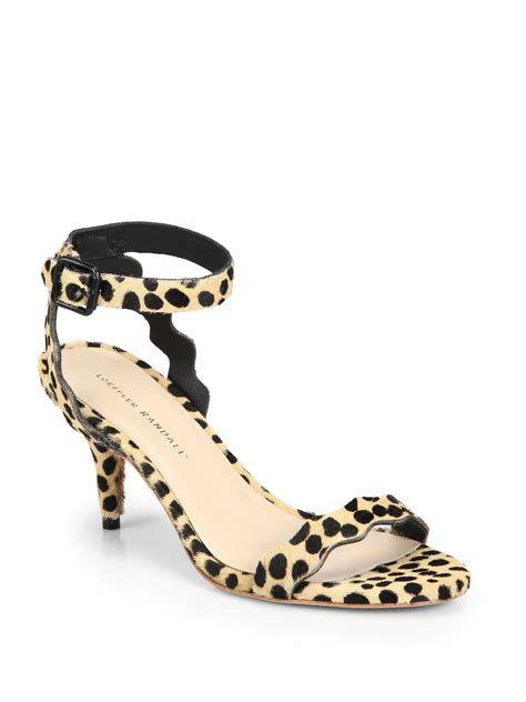 loafer randall loeffler randall reina calf hair ankle sandals in