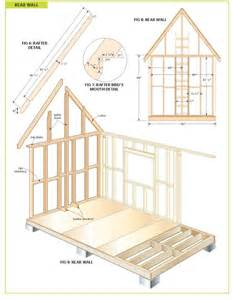 cabin building plans free completely free 108 sq ft cottage wood cabin plans