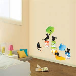 Wall Stickers For Kids Rooms Painting Cats Wall Stickers For Kids Rooms Wallstickery Com