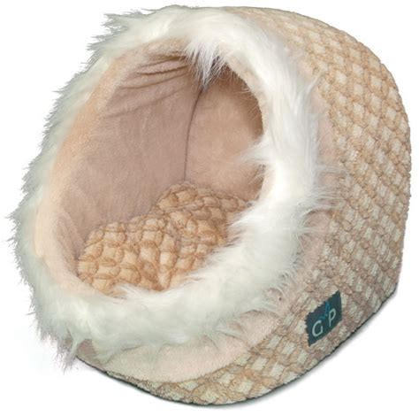 enclosed cat bed an enclosed cat bed in patterned beige with removable