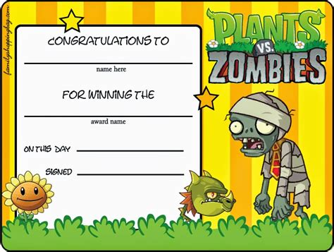 pvz card template plants vs zombies free printables oh my for geeks