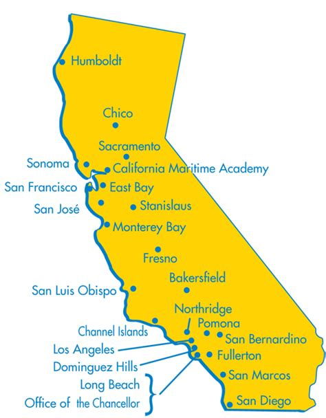 california map of colleges csueu gt chapters