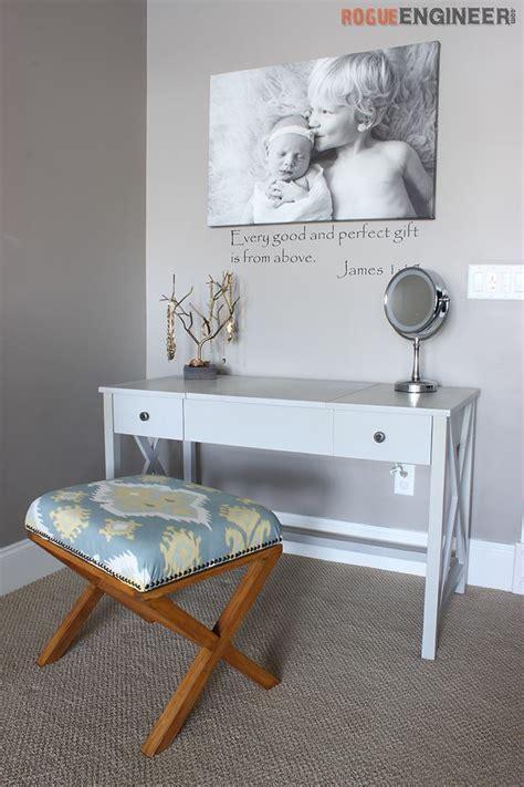 flip top vanity desk white flip top vanity featuring rogue engineer diy