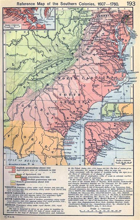 southern colonies map map of the southern colonies 1607 1760