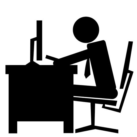 Office Desk Icon 8 Office Worker Icon Images Office Worker Symbol Office Icons And Office Desk Icons